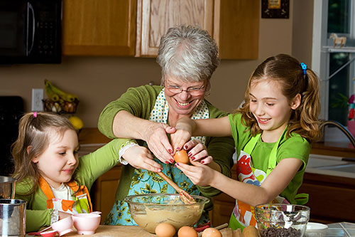 Photographing Grandparents with Their Grandchildren