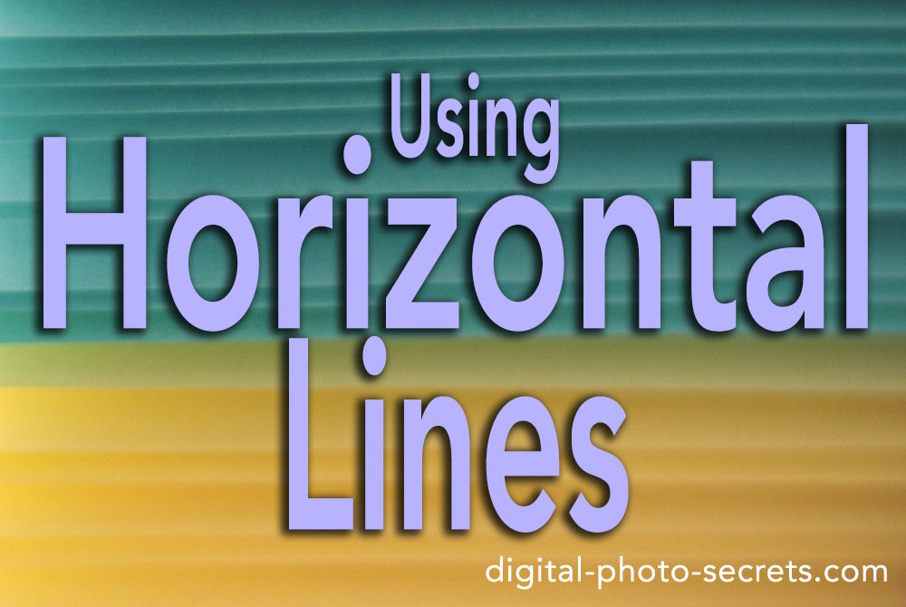 Using Horizontal Lines in Your Photography