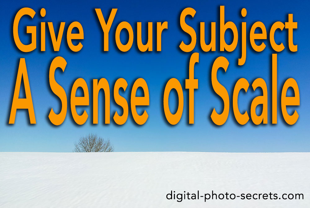 How to Give Your Subject a Sense of Scale