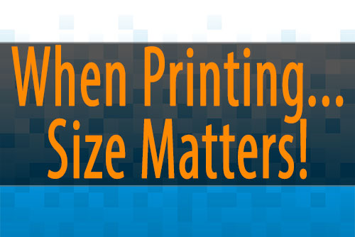 Printing images – size does matter